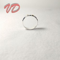 Valdo 112 silver ring with...