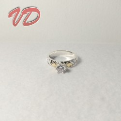 Valdo 133 silver ring with...